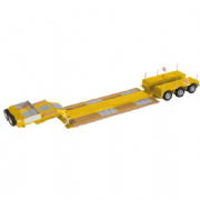NZG Nooteboom EURO-PX 3 Axle Lowloader Trailer Yellow RAL 1007